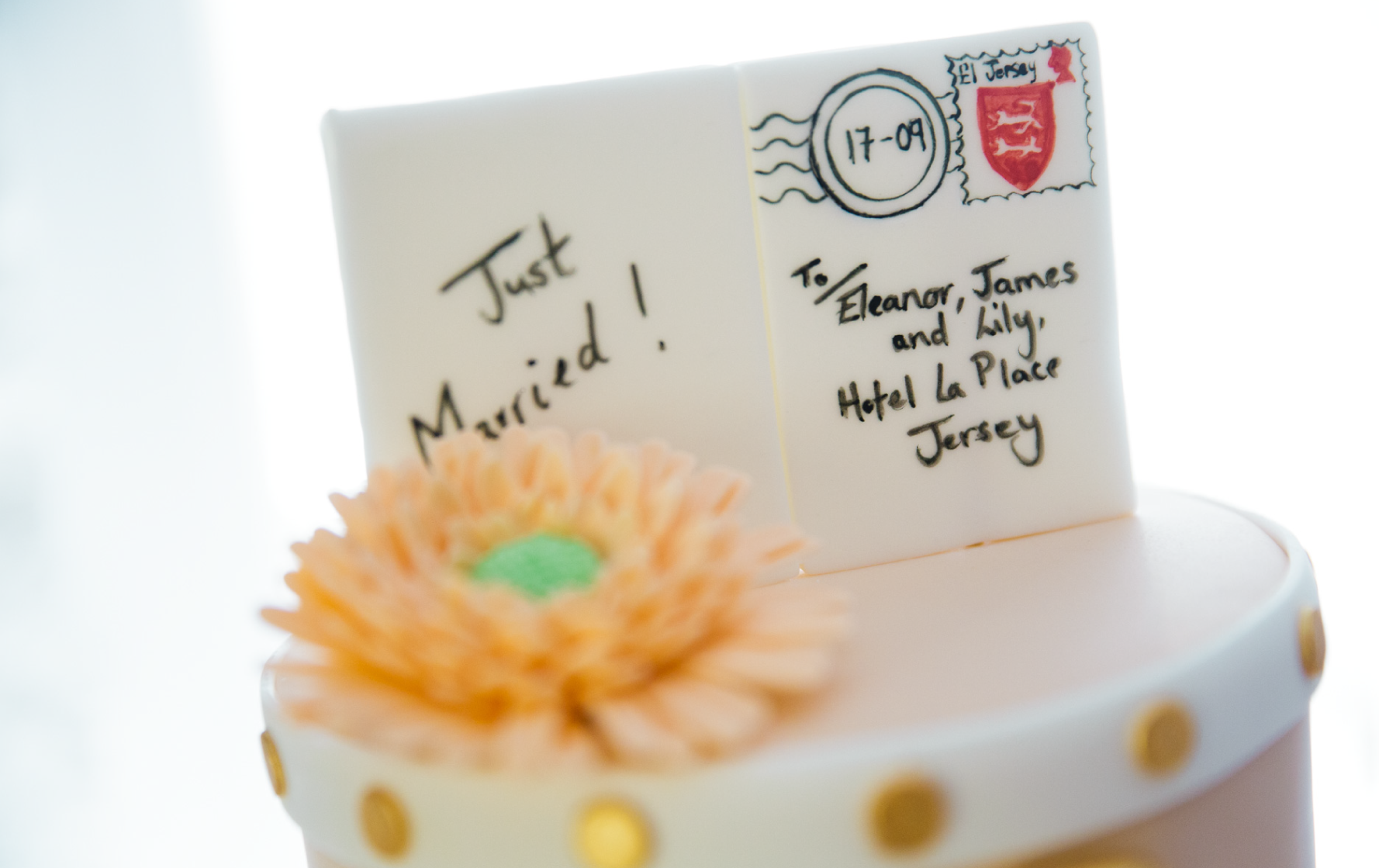 Eleanor and James' Wedding Cake - Travel Theme