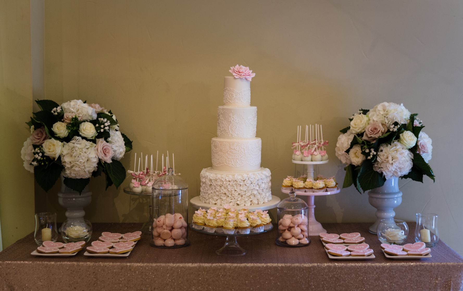 Amanda and Harry's Wedding Cake and Dessert Table